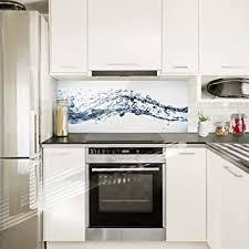 spritzschutz küche water splash i inkl magnethalterung i hitzebeständig für alle herdarten geeignet i küchenrückwand glas spritzschutz herd