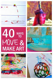 Make Fun Art Projects For Kids By Making Bigger And With Movement Easier