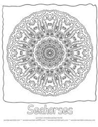 Free Animal Mandalas Coloring Pages Seahorse With Pictures From Our Ocean