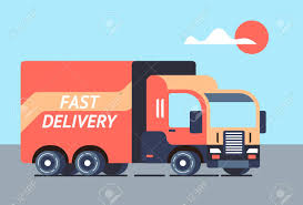 100 Light Duty Truck Cool Flat Design Freight Vector Delivery Trailer