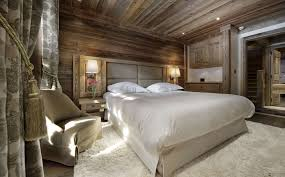 Grandiose Wood Rustic Master Bedroom Headboard With White Cover Also Grey Fabric Accent Sofa As Well Wooden Wall Exposed In Log Decors