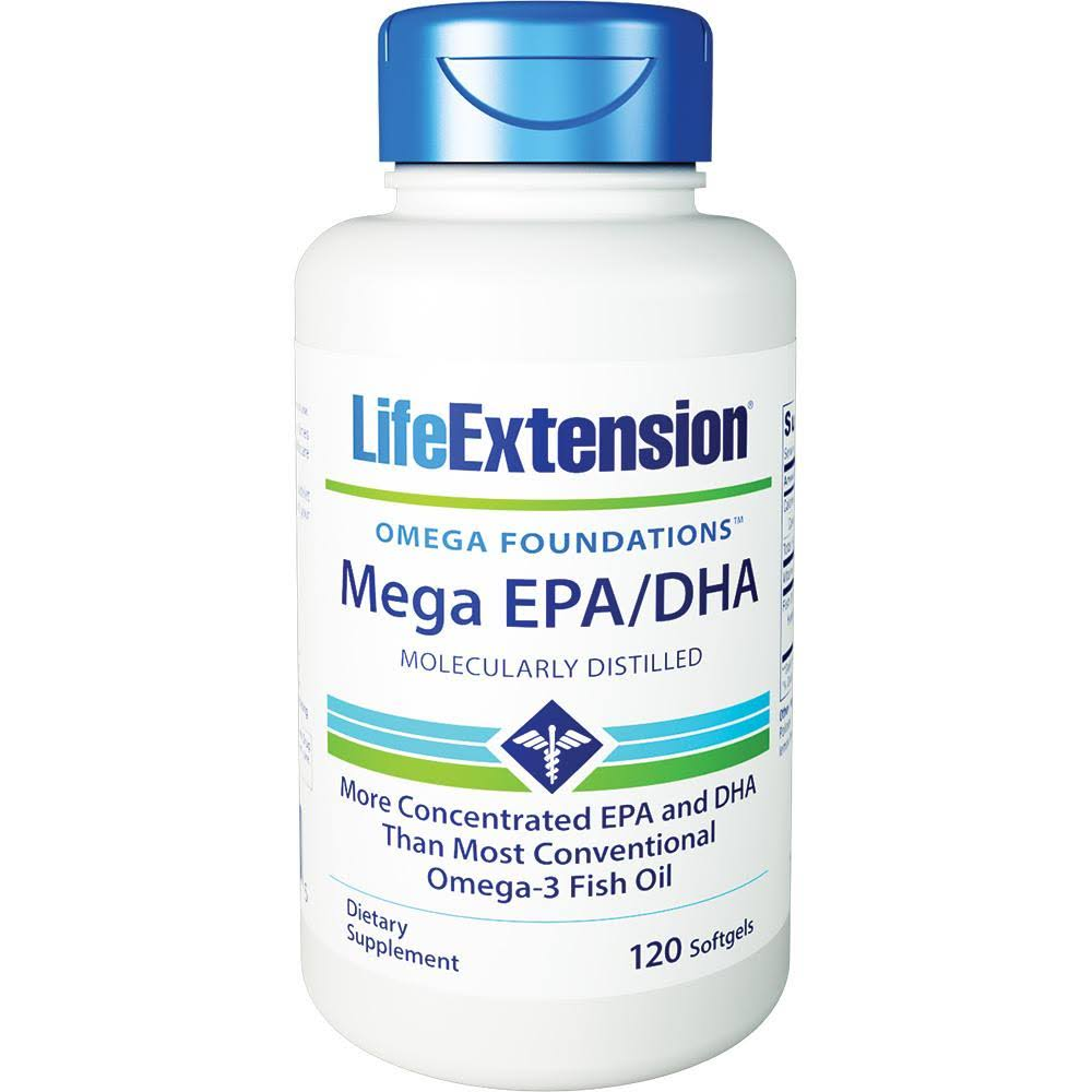 Life Extension Mega EPa and DHA Supplement - 120 Count