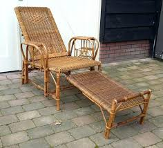 Vintage Rattan Furniture Producer Unknown Deck Chair Antique For Sale