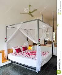 Romantic Rose Petals A Bed Stock Image