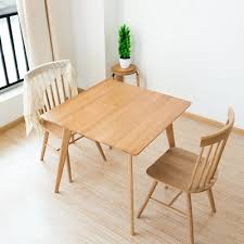 Solid Wood Dining Table Simple White Oak Square Small In Tables From Furniture On Aliexpress