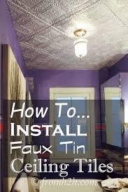 how to install styrofoam ceiling tiles popcorn ceiling