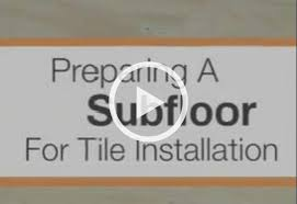 preparing your subfloor for ceramic and porcelain floor tile