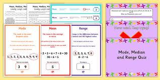 mode median and range mode median and range seo ranking maths resources