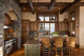 Appliances Stone Wall With Rustic Decor Ideas Country Design Kitchen Idea 16