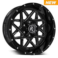 100 20x10 Truck Wheels Remington OffRoad Series Caliber 20x9 Black With Milled
