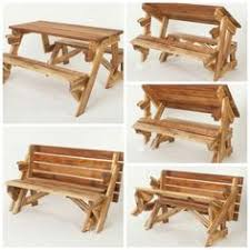 one piece folding bench picnic table woodworkerz com muebles y