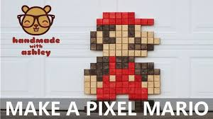 A Step By DIY Tutorial On How To Make Super Sized Pixel Mario Display This Wall Art In Your Game Room And Enjoy The 8 Bit Nostalgia