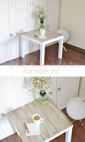 Vanity Table Ikea Hack by Diy Faux Barnwood Side Table Ikea Hack Wood Side Tables And