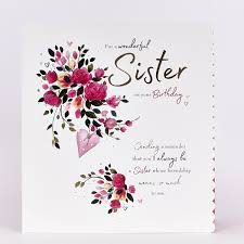 Platinum Collection Birthday Card Sister Happy Birthday £199