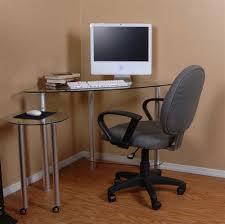 Glass And Metal Corner Computer Desk White by Small Corner Desks Black Varnished Wood Small Corner Computer Desk