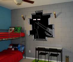 3d Minecraft Style Wall Decal Poster Sticker Room Bedroom Decor Video Game 6