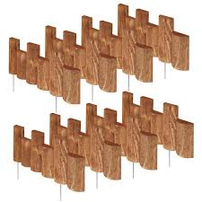 greenes fence 18 in half log edging 8 pack rc32b 8pk the home