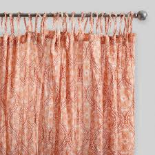 coral ogee crinkle cotton voile curtains set of 2 world market