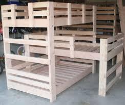 bunk beds triple bunk bed dimensions triple bunk bed plans l