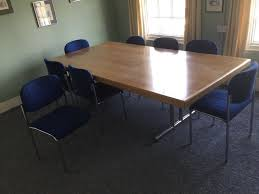 Dining Room / Meeting Room Table & 8 Chairs   In Coggeshall, Essex ... Poupard Tent Rental Monroe Mi Party Graduation Lifetime 8 Foldinhalf Table Almond 80175 Walmartcom Fniture Tremendous Folding Tables Walmart For Alluring Home 244x76cm Chair Galds_244_8kresli Foot Fresh Pnic Solid Wood Ding Room Lovely Kitchen Chairs Elegant 13 Best Of How Many At Pics Mvfdesigncom Antrader 24pcs Round Shape Pvc Rubber Covers Soldedwardian Period Foot Mahogany Riley Snooker Ding Table Foot Italian Marquetry Queen Anne Syo 4 Leg