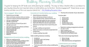 Best DIY Wedding Checklist Printable Planning For Diy Brides