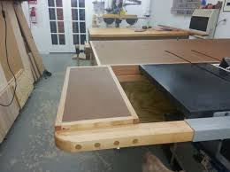 Sawstop Cabinet Saw Outfeed Table by 26 Best Tablesaw Outfeed Images On Pinterest Workshop Ideas