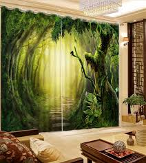 Primitive Curtains For Living Room by Photo Curtains Customize 3d Luxury Curtains Primitive Forest