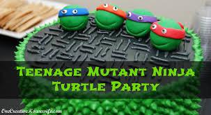 Ninja Turtle Decorations Ideas by One Creative Housewife Teenage Mutant Ninja Turtle Party Part 2