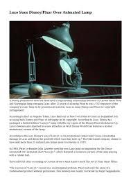 Luxo Jr Lamp Model by Luxo Sues Disney Pixar Over Animated Lamp