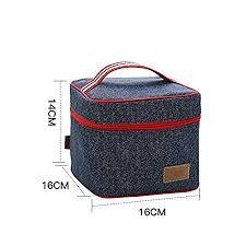 Simple Lovely Fresh Canvas Handbag Lunch Box Bag Convenient Packing
