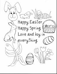 Excellent Happy Easter Coloring Pages With Free To Print And Bunny