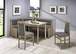 howe deko truhen eckbankgruppe eiche sonoma sägerau dekor bzw buche massiv sonomafarbig eckbank 2 stühle und vierfußtisch bezug flachgewebe
