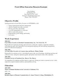 Front Office Resume Examples Marvelous Desk Samples About Sample Executive Of Skills