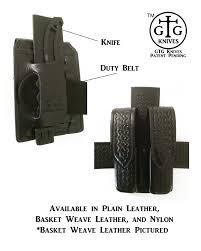 belt knife carry black nylon vertical horizontal combo