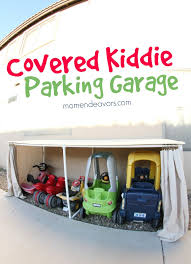 kid u0027s car garage great idea for all those large outdoor toys you