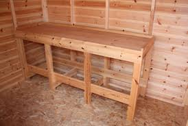 Shed Bench by Drainage Macclesfield U0026 Stockport Jet Rod