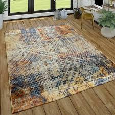 teppich isaacs in gelb orange blau