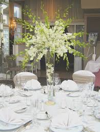 Tall Elegant Wedding Centerpieces Stunning And All White Dendrobium Orchid Centerpiece By