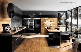 cuisine bois plan de travail noir le stratifié le standard du plan de travail inspiration