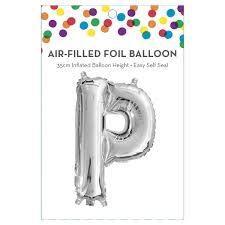 AirFilled Letter P Foil Balloon KmartNZ