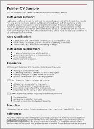 Resume Example Educational Background Awesome Painter Cv Sample