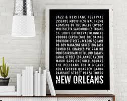 New Orleans Print Subway Sign Poster Louisiana Wall Art Decor