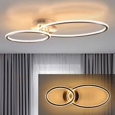 zmh led deckenleuchte deckenleuchte wohnzimmer deckenle schlafzimmer küchen 3000k warmweiß 29w in 2 ring design kaufen otto