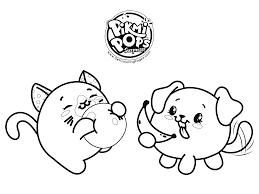 Kawaii Animals Coloring Page