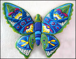 Butterfly Wall Decor 24 Painted Metal Outdoor Garden Art
