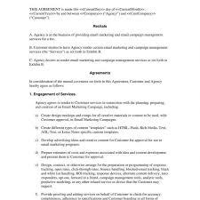 Affiliate Program Agreement Template Fresh Artist Contract
