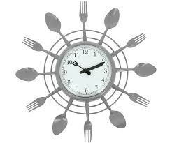 horloge cuisine pas cher pendule pas cher avec grande horloge pendule design couverts cuisine