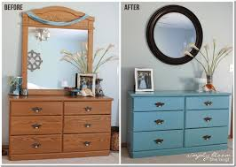 Laminate Dresser Makeover with Homemade Chalk Paint}