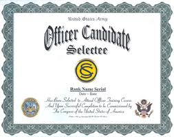 US Army Army ficer Candidate School Selectee Professional