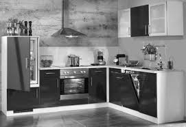 einbauküche mankasono 1 schwarz hochglanz lack küchenzeile l form 265x215 cm mit e geräte